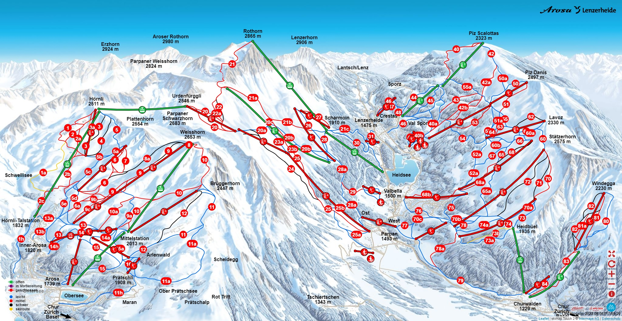iSKI Ski Resort Arosa Lenzerheide closed