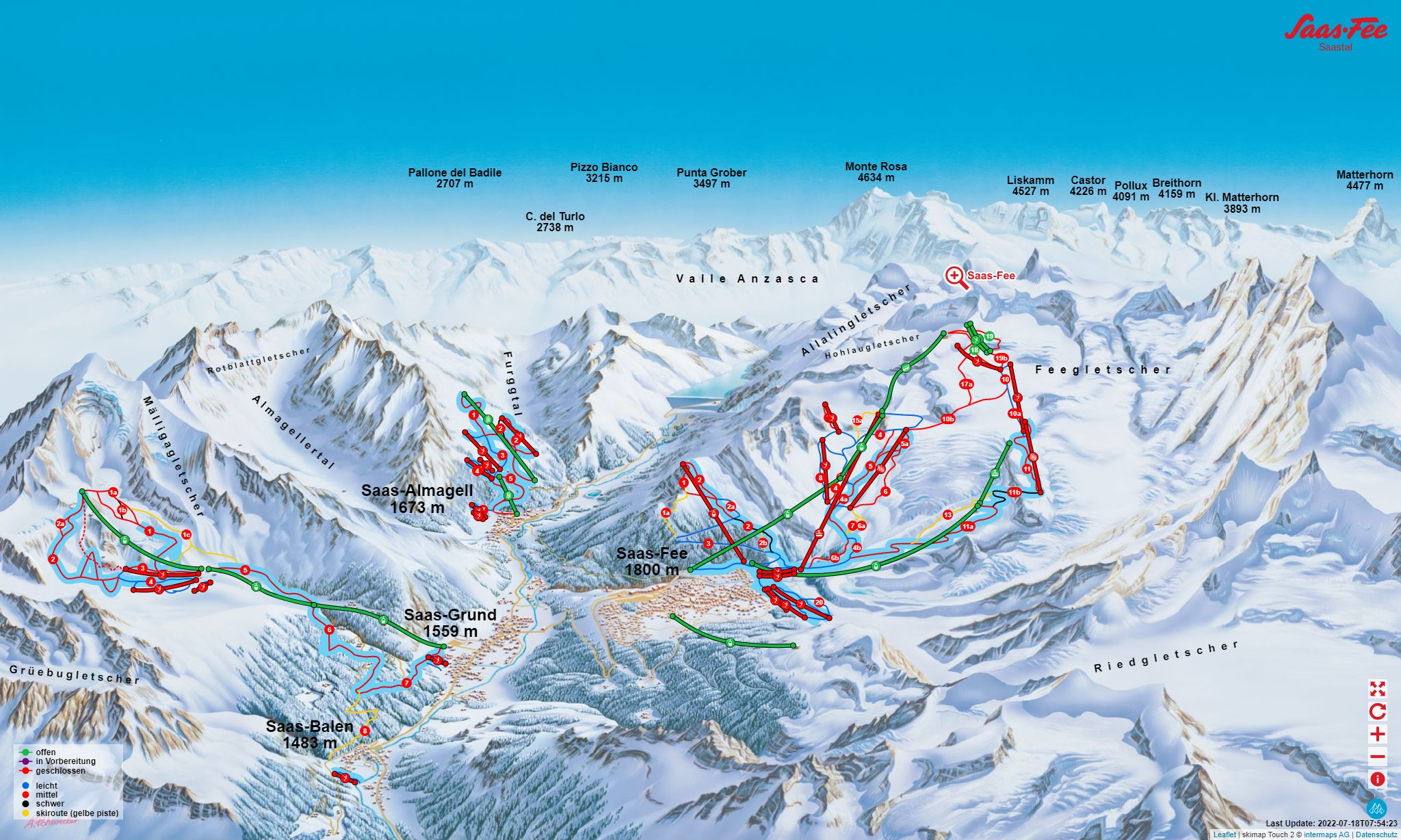 iSKI Ski Resort SaasFee closed